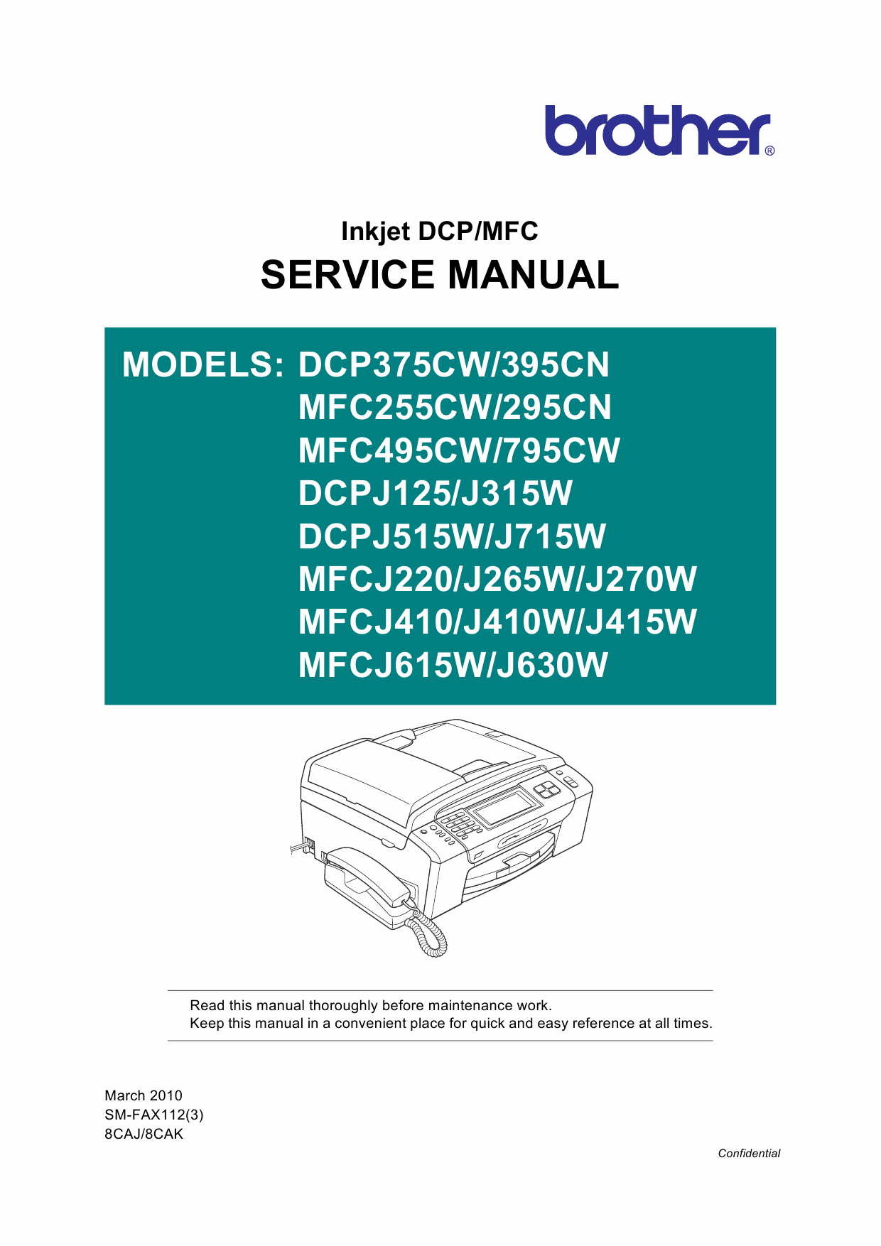 Brother Inkjet-MFC 255 295 495 795 CW-CN DCP375CW 395CN Service Manual-1